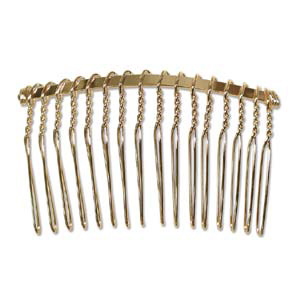 JF199-1 - metal hair combs for jewellery making - gold