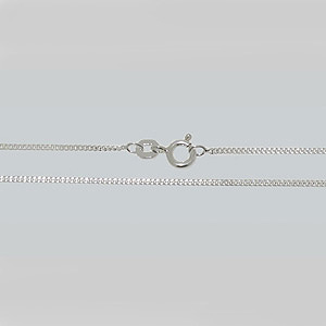 JF45-ss - curb chain necklets - sterling silver