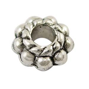 MEB14-2 - flower spacer bead - silver