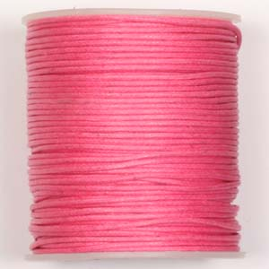 WCC-1 PK - waxed cotton cord - pink