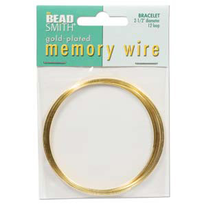 MWB-1 - memory wire bracelet - gold