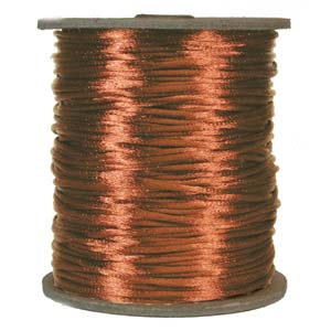 S215 COPPER - Rattail Satin Cord - Copper