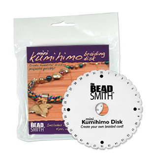S219 - Kumihimo mini disk, round - with instructions & project