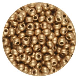 SB8-111 - Preciosa Czech seed beads - gold metallic