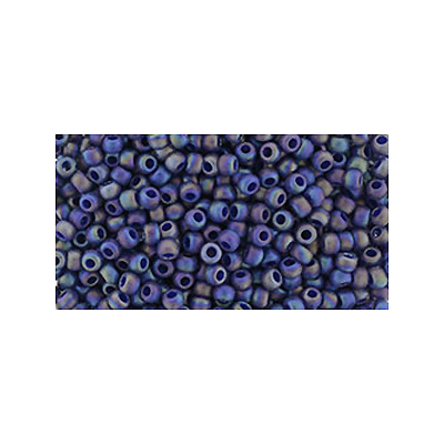 SB11JT-2637F - Toho size 11 seed beads - semi-glazed rainbow navy blue