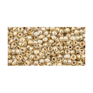 SB15JT-989 - Toho size 15 seed beads - gold-lined crystal