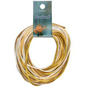 NBC-2-M10 - Nylon bead cord - golds mix