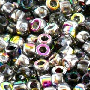SBP8-27 - Matubo Czech size 8 seed beads - crystal vitrail