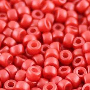 SBP8-331 - Matubo Czech size 8 seed beads - pastel dark coral