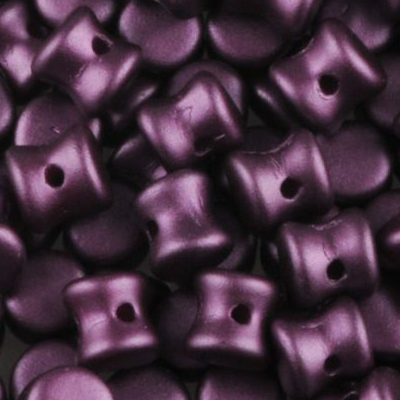 GBPLT-335 - Czech pellet pressed beads - pastel bordeaux
