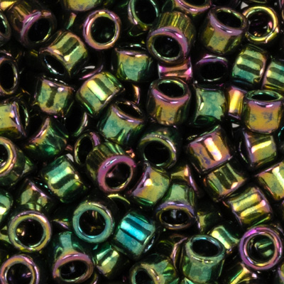 SB11JTT-508 - Toho Treasures beads - higher-metallic olivine iris