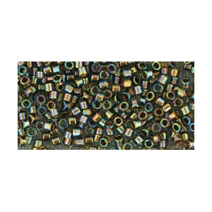 SB11JTT-999 - Toho Treasures beads - gold-lined rainbow black diamond