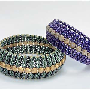 SBDUO1-BANGLE - Superduo Duets and HoneyComb Bangle Pattern