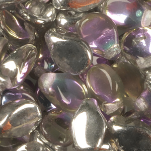 GBPIP-202 - Czech pips pressed beads - crystal vitrail light
