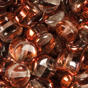 GBPLT-207 - Czech pellet pressed beads - crystal sunset