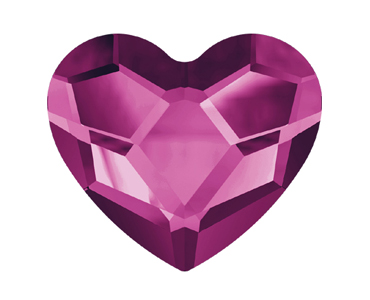 Category 2808 Swarovski Heart Flat Backs - No Hotfix