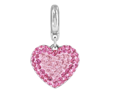 Category 86502 Swarovski BeCharmed Pave Heart Charms