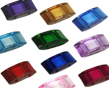 Category 2-hole Acrylic Carrier Beads