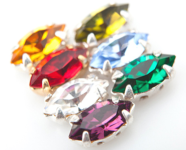 Category Czech Crystal Navette Stones in Settings