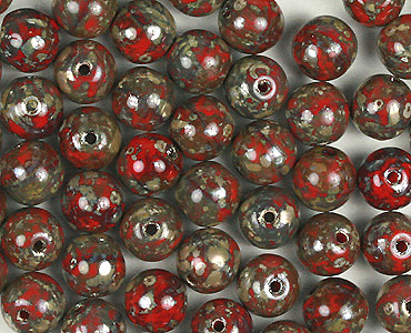 Category 6mm Czech Round Pressed Glass Beads