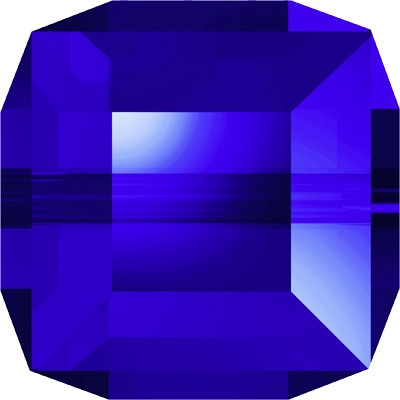 5601 6mm PLAIN 296 Swarovski cube bead - majestic blue
