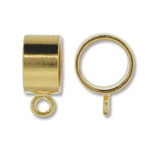 JF195-1 Kumihimo findings: pendant slide - gold