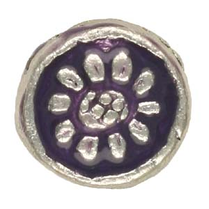 MEBE3-1 enamelled metal flat round - purple