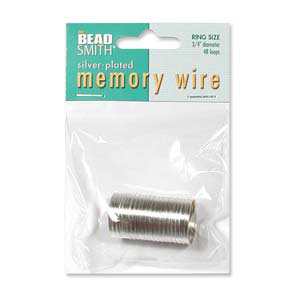 MWR-2 memory wire ring - silver