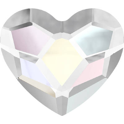 2808 14mm CET NHF - Swarovski heart flatbacks - crystal transparent effects