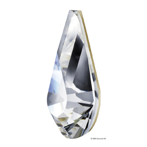 4328 10x6mm 001 - Swarovski pear fancy stone - crystal