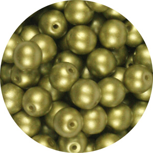 GBSR06-334 round pressed glass beads - pastel lime