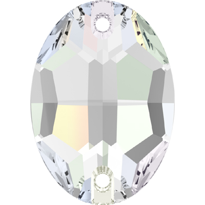 3210 10x7mm CET - Swarovski oval sew-on stone - crystal transparent effects