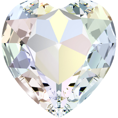 4827 28mm CET - Swarovski  heart fancy stone - crystal transparent effects