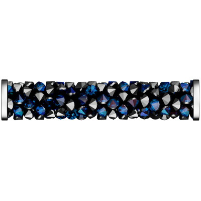5950 30mm CET/088 - Swarovski fine rocks tube with ending - crystal metallic effects/stainless steel