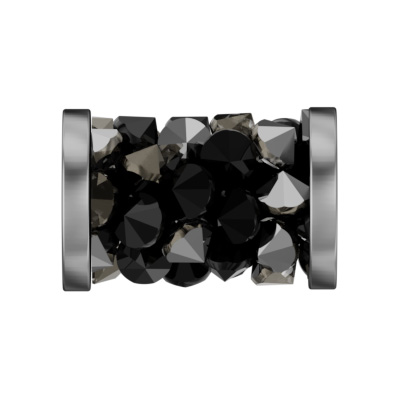 5950 8mm 001 M/088 - Swarovski fine rocks tube with ending - multi-colour/stainless steel ends