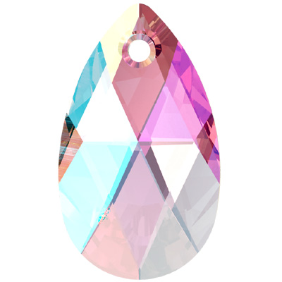 6106 16mm PLAIN SH - Swarovski pear shape pendant - shimmer colours