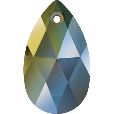 6106 16mm CEM - Swarovski pear shape pendant - crystal metallic colours