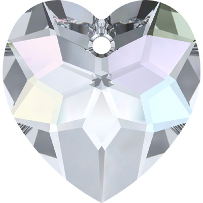 6215 18mm CET - Swarovski classic heart pendant - crystal transparent effects