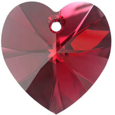 6228 14mm PLAIN - Swarovski XILION heart pendant - plain colours