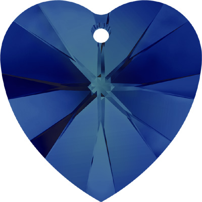 6228 18mm CETT - Swarovski XILION heart pendant - crystal transparent colours