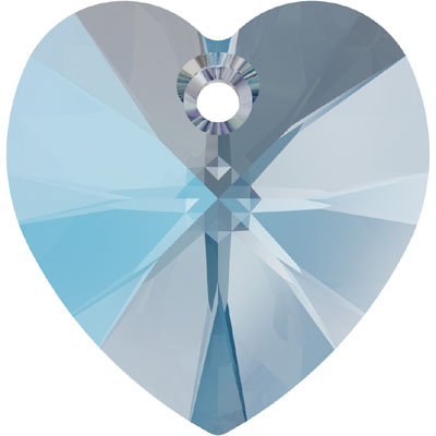 6228 14mm PLAIN SH - Swarovski XILION heart pendant - shimmer colours