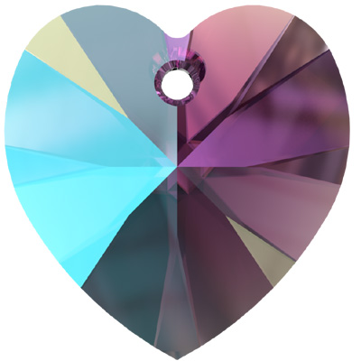 6228 18mm PLAIN SH - Swarovski XILION heart pendant - shimmer colours