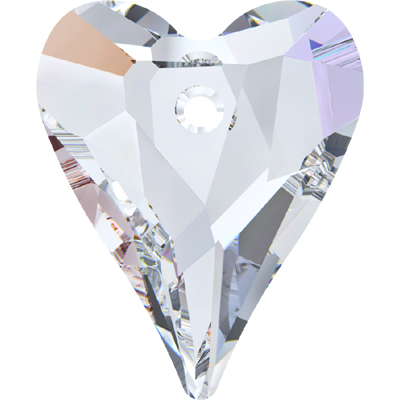 6240 37mm CET - Swarovski wild heart pendant - crystal transparent colours