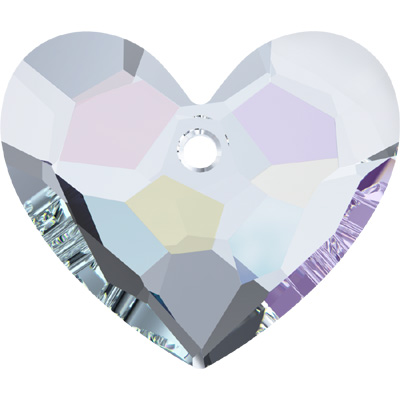 6264 18mm CET - Swarovski truly in love heart - crystal transparent effects