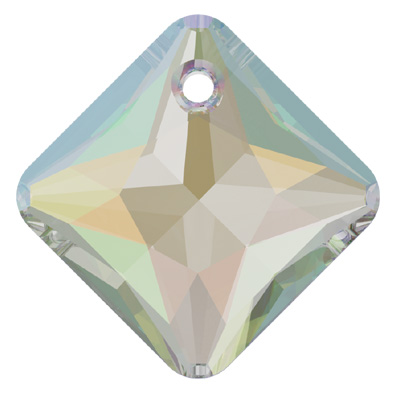 6431 11.5mm CET - Swarovski princess cut pendant - crystal transparent effects