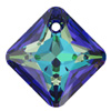 6431 9mm CETT - Swarovski princess cut pendant - crystal transparent colours