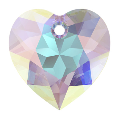 6432 14.5mm CET - Swarovski heart cut pendant - crystal transparent colours