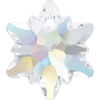 6748 14mm CET - Swarovski Edelweiss pendant - Crystal Transparent Colours