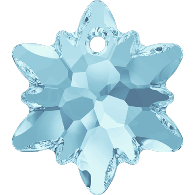 6748 14mm PLAIN - Swarovski Edelweiss pendant - Plain Colours