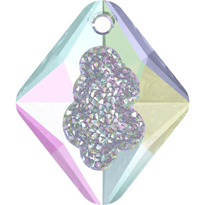 6926 26mm CET Swarovski growing crystal rhombus pendant - crystal transparent effects